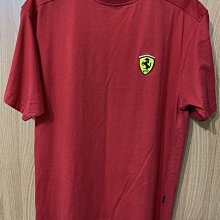 二手 Ferrari 法拉利 LOGO 短袖 T恤 紅色