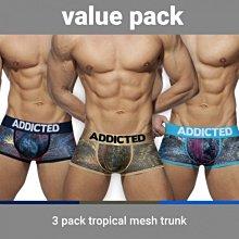 AD890P TROPICAL MESH TRUNK PUSH UP 熱帶風情 四角內褲 超值三件組【G-Punch】