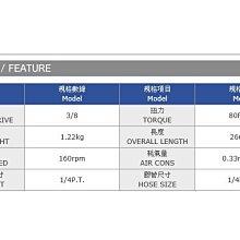 專業級氣動板手90度 ST-183 正港MIT台灣製造 POWERFUL