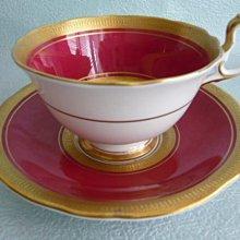 AYNSLEY 金邊紅骨瓷咖啡杯