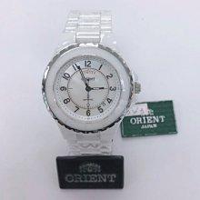 可議價 ORIENT東方錶 女 白陶瓷時尚 石英腕錶 (HS9SC21S)