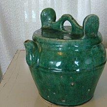 清代老件綠釉壺