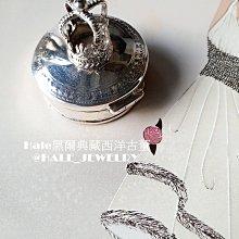 黑爾典藏西洋古董 ~純銀 925銀 立體英國皇冠純銀藥盒/飾品盒/櫥窗擺飾/珍品收藏/銀器