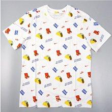 nike nsw 滿版 logo 捲餅 短袖 短t cw0473-100 白 男