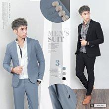 。SW。【K31192】正韓KE韓國製 修身顯瘦 質感琥珀扣 彈性萊卡西裝布 窄版雅痞 藍灰黑 素面西裝外套下標區 英倫