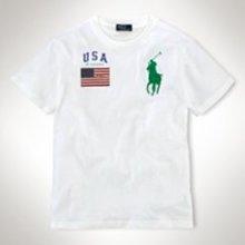 【Polo Ralph Lauren】RL 男寶寶 短袖T恤 刺繡大馬 國旗貼布 純棉 素面短t 圓領素面短袖T恤