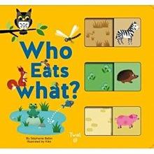 全新 現貨 Who Eats What? (硬頁推拉書)