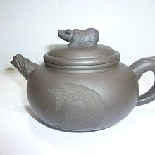 茶壺.紫砂壺.朱泥壺.手拉坯壺/早期名家十二生肖之豬壺