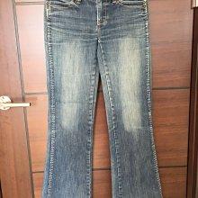 九成新專櫃真品~BRAPPERS深藍色刷白牛仔長褲(小喇叭)腰圍平放量約36cm~台北市/新店區可面交