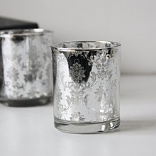 熱銷#歐式燭臺銀色復古玻璃蠟燭臺道具時尚創意客廳餐廳浪漫擺件北歐#燭臺#裝飾