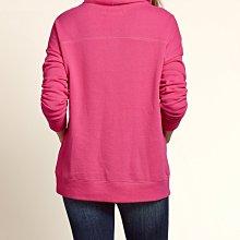 《Cupio》現貨HCo. Hollister Graphic Cowl Neck 立領低肩線寬鬆款薄刷毛長袖(S)