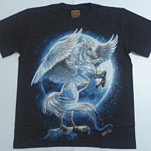 【Mr.17】夜光 飛馬 白馬 獨角獸 滿月 兩面圖案不黏不掉色進口滾筒T-SHIRT短袖 T恤滿千免運費(RF110)