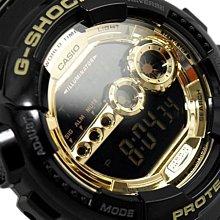 【美國鞋校】現貨CASIO G-Shock GD-100GB-1 手錶 小黑金 潮流錶 黑金 時尚 防水 大黑金