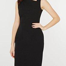 全新有吊牌 英國品牌DORTHY PERKINS 氣質黑色造型領大尺碼無袖洋裝uk20