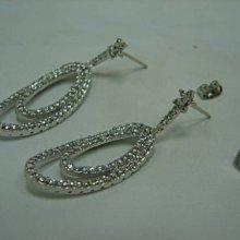 台中潤泰流當精品 造型 3克拉 K金 鑽石 耳環 喜歡價可議 或物品交換 PS224