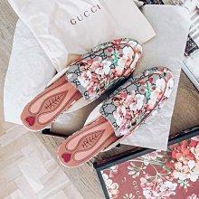 Gucci 432772 Sandles 花花馬蹄前扣休閒鞋 粉紅 現貨