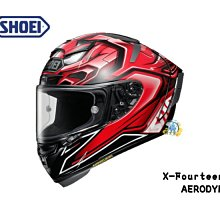 騎士堡-中原店 日本 SHOEI X-14 X-Fourteen AERODYNE TC-1 (RED/BLACK)