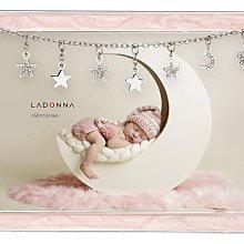 日本Ladonna Bridal SWEET DREAMS 星月吊鑽 4x6金屬水晶結婚相框 /MB97-P