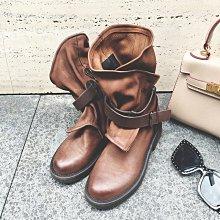 DANDT 復古擦色真皮騎士短靴鞋(AUG 20 A45977)同風格請在賣場搜尋 BLU 或 歐美女鞋