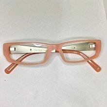 prada鏡框   中性鏡框  淺粉色