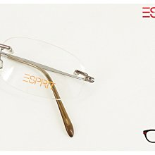 【My Eyes 瞳言瞳語】Esprit 蜜糖銅超輕量無邊鏡架 簡潔設計 細鏡架設計 男女皆宜 (9177)