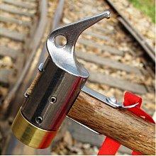 神莫多賣~不銹鋼+黃銅+實木木柄營槌+拔釘鉤、營槌。非鐵鎚。另售營釘、營柱、蝶型天幕