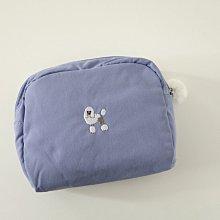 郭公館工作室 Hemings紫藕色貴賓狗刺繡化妝包