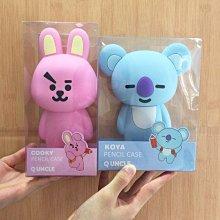 Q UNCLE 超治癒韓國生氣兔 考拉 超可愛立體矽膠筆袋 鉛筆盒 化妝包 公仔 硅膠 收納包  Cooky  Koya