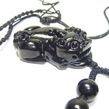 金鎂藝品【黑曜石貔貅項鍊】可配情侶對鍊情侶貔貅/開光是永久/編號636