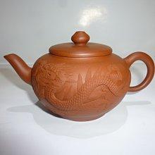 茶壺.紫砂壺.朱泥壺.手拉坯壺/早期堆泥龍鳳壺