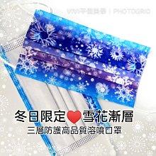 現貨(10入精裝版)冬日限定♥夢幻雪花版高品質三層防護口罩