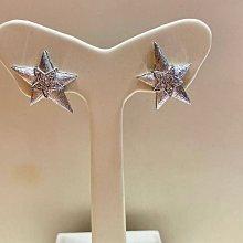 6分天然鑽石白K金耳環,香港金工製作,經典星星款式設計,鑑賞價16800元,搭配高等級鑽石火光閃顏色白,現貨商品只有一對,造型款耳環