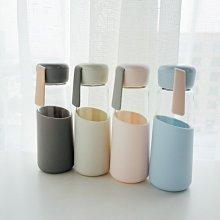 那家小屋-韓版簡約耐熱玻璃杯男女便攜情侶杯子花茶杯創意清新潮流帶蓋水杯(規格不同 聯系改價)
