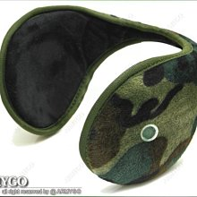 【ARMYGO】後戴式保暖耳罩 (迷彩與黑色可選擇)