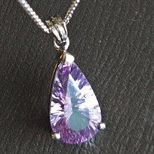 ☆采鑫天然寶石☆** 輕靈之美** 頂級紫水晶墜~千禧切工款~水滴包框