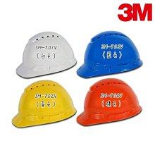 【醫碩科技】3M H-701V旋鈕透氣型工程帽 外件插孔 工地/機房/搬運/機械操作維修