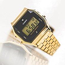 ?夢幻精品屋? 原廠CASIO~復古方形 經典電子錶 錶面鑲天然鑽石 A159WGED-1