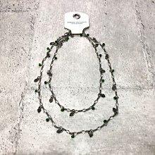 Maple麋鹿小舖 American Eagle * AE  綠色珠珠愛心造型項鍊 * ( 現貨 )