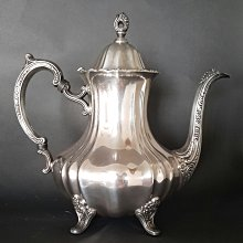404 高級英國鍍銀壺 Silver Plate Coffee Pot Lancaster Rose by Poole