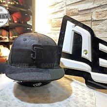 New Era x MLB SF Giants 9Fifty 舊金山巨人黑色皮革拼接後扣棒球帽 Snapback