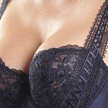 全新【一般版型】Aubade 左岸激情系列,薄紗襯半罩尺寸僅有 32D,沒有配褲,深藍色蕾絲刺繡艾菲爾鐵塔圖騰。Chantelle 莎露 Studio Five