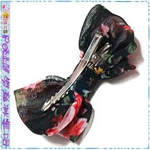 ☆POLLY媽☆claires BRASH斑馬紋碎花…蕾絲金蔥布雪紡紗絲緞…雙層蝴蝶結壓夾3支一組~5組別
