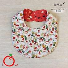 *樂芙領巾/手作*米底月亮白鬍子耶誕老公公款(日本薄棉布),嬰兒/兒童三角巾、口水巾、圍兜,可訂製大小及親子領巾