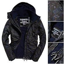 跩狗嚴選 黑迷彩 極度乾燥 Superdry Arctic 經典款 三排拉鍊 風衣 外套 防風 刷毛保暖 內口袋
