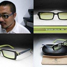 信義計劃 眼鏡 Alain Delon 亞蘭德倫 AD 太陽眼鏡 黑綠雙色方框 可配高度數小框 sunglasses