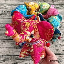 泰國幸運象玩偶 大象布偶 拼布玩偶 居家擺設 裝飾