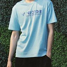 ◇ 羽球世家◇【衣】勝利運動短袖 T-10902 F (湖水藍) 團體VICTOR 上衣 選手也愛百搭《熱門發售》二件免運