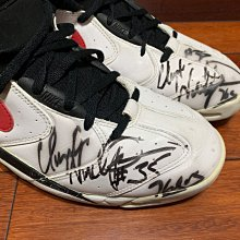 Clarence Weatherspoon 1994-95賽季實戰著用 Nike Air Up player sample 親筆簽名 76人