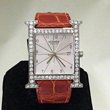 順利當舖 HERMES/愛瑪士 品牌獨有經典H型男女通用大型新款鑽錶