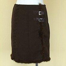 DAHSEN 韓版 咖啡棉質兔毛短裙M號得標是裙子(2745)